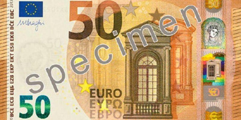 Nova nota de 50 euros está a chegar